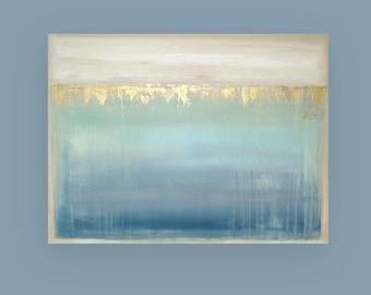 "Art, Metallic Painting,Large Original Abstract, Acrylic Paintings on Canvas by Ora Birenbaum Titled: Dream 7 30x40x1.5"""