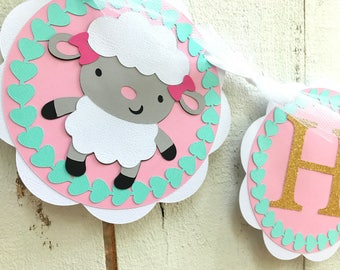 Farm Birthday Banner/ Cow/ Sheep/ Farm Garland/ Customized Birthday Banner