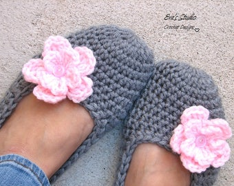 Non Slip, Extra Thick, Crochet Women Slippers , Accessories, Adult Crochet Slippers, Home Shoes, Crochet Women Slippers