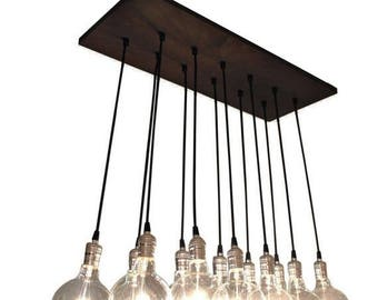 Summer Promo Urban Chic Chandelier With Exposed Bulbs - Kitchen Lighting, Modern Chandelier