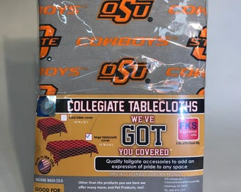"Oklahoma State University Table Cloth-54"" x 66""-Brand New-NCAA Table Cloths-for over 30 Schools"