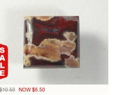 40% OFF Sale - Hornitos Poppy Jasper Cabochon, 15.2x14x5.5 mm, designer cabochon, gemstone cabochons, flat back cabochons, natural stone cab