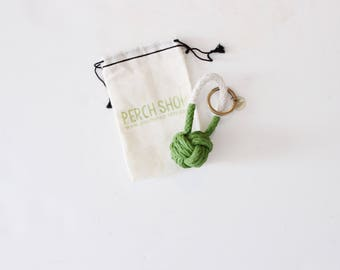 Rope Knot Keychain /  green