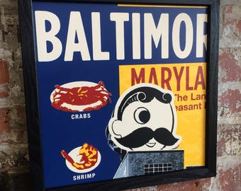 Natty boh with Baltimore old bay background