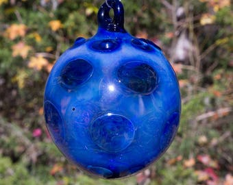 OOAK Hand blown Borosilicate Glass Christmas ornament 189