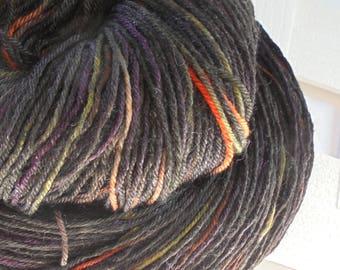 Handdyed Yarn, NORTHANGER ABBEY Superwash Merino Sock Yarn, Handdyed Fingering Yarn, Tonal Sock Yarn, Black Sock Yarn, Indie Dyed Yarn, Knit