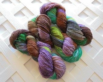 Sparkly Indie Yarn, LOTHLORIEN, Hand-Dyed Yarn, Variegated Merino Yarn, Sock Yarn, Fingering Yarn, Indie-Dyed Yarn, Soft Variegated Yarn