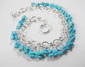 Exquisite Sleeping Beauty Turquoise Bracelet, Southwest Style Luxury