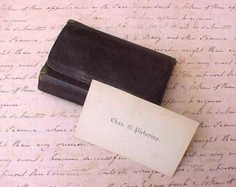 Charming Edwardian Era Gentleman's Leather Billfold