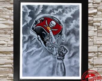 Tampa bay buccaneers, Fine Art Print,buccaneers fan gift