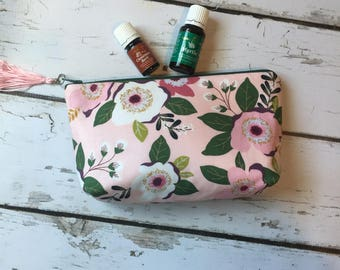 Essential Oil Travel Bag,  Essential Oil case, essential oil storage,  Young Living , Fall Floral (holds 12-14)?Ready to Ship