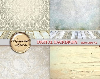 Sale 60% Digital Backdrop newborn digital photo background Digital Scrapbook Paper pack white wood texture digital backdrop background newbo