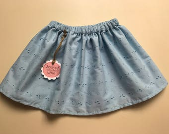Princess Double Layer Eyelet - Girls Skirt - 1-3yrs - Ready to Ship