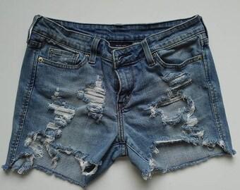 Levi's Distressed Denim Cut-Off Shorts