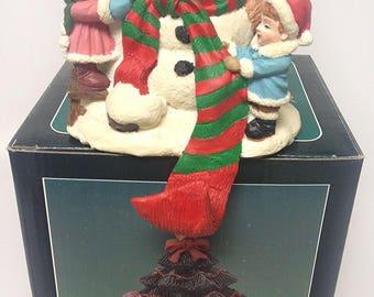 Vintage Snowman Stocking Holder