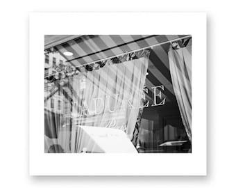 New York print, Laduree, New York photography, canvas art, large wall art, New York wall art, New York City, NYC, black and white