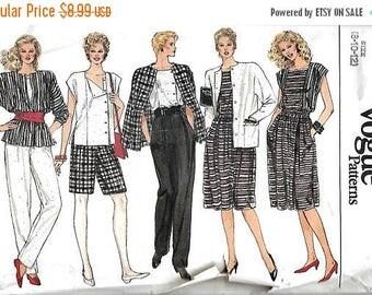 ON SALE Vogue 8617 Misses Jacket, Skirt, Pants, Shorts And Top Pattern, 8-10-12,  UNCUT