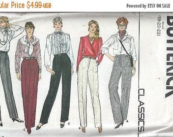 ON SALE Butterick 4704 Misses Pants Trousers Slacks Pattern, Size 18-20-22 UNCUT