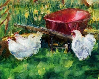 Wheelbarrow Art Etsy