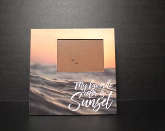 My Favorite Color is Sunset 12 x 12 picture frame
