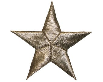 ID 3446 Silver Star Patch Symbol Space Night Sky Embroidered Iron On Applique
