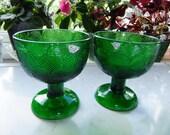 Vintage Set of two green Miranda dessert bowls by Arabia Finland - Heikki Orvola design