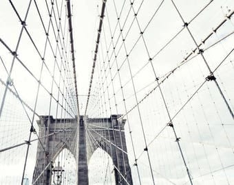 Extra large wall art, NYC print, large wall art, New York print, framed wall art, Brooklyn bridge, canvas wall art New York photography