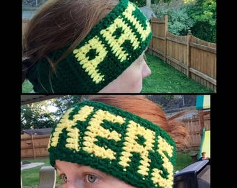 Green Bay Packer Crochet Ear Warmer Headband