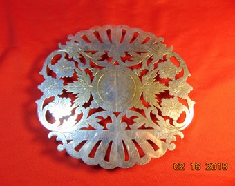 One (1), Vintage, Pairpoint, Sheffield Silver Plate, Expandable Trivet # 07131