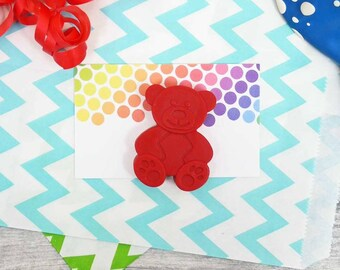 Teddy Bear Crayon Party Favour - Party Bag filler - Goodie Bag - Wedding Favours - Made to Order - Handmade Crayons - Teddy Bear Picnic