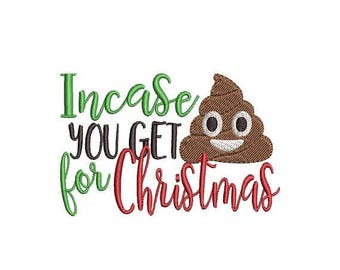 ON SALE Crap for Christmas Toilet Paper Embroidery Design - Instant Download