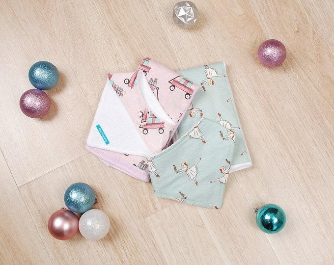 Featured listing image: 1 Holiday Bandanna Bib and Burp Cloth