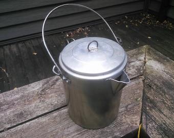 Vintage Aluminum Coffee Pot - Percolator Coffee Pot - Camping Coffee Pot - Aluminium Percolator Coffee Pot
