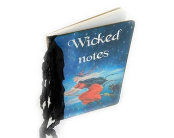 Halloween Notebook, Witch Diary, Spell Book Journal, Fall Stationery, Wicked Notes
