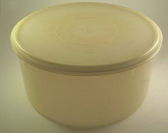 VINTAGE TUPPERWARE Large Round Container #256 Carry All Cake Taker w/ Lid #224 Sheer Seal
