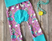 Maxaloones, Rainbows Unicorns and Donuts, Toddler Pants, Baby Rainbow Leggings