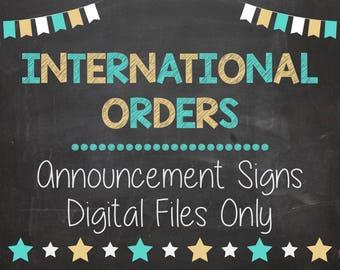 International Orders, Digital Files Only PRINTABLE