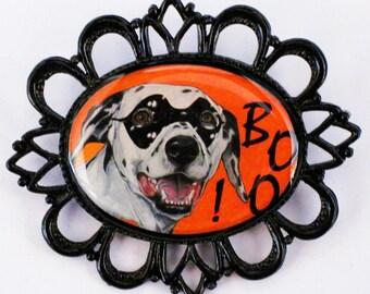 Halloween Dalmatian original art pin