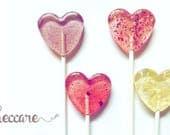 20 Flower Heart Lollipops // Think Spring Collection // Spring Wedding Favors // Summer Weddings // Edible Flower Lollipops
