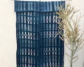 African throw blanket   Vintage Textile Indigo Blue Mudcloth Indigo Mudcloth African Indigo Fabric Indigo Cloth Indigo Beach Blanket #109