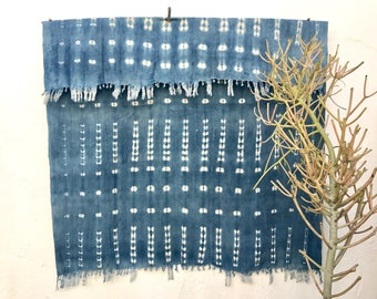 Vintage Textile African Mudcloth Indigo Fabric Indigo Throw African Indigo Textile Indigo Cloth Beach Blanket Indigo Blue Decor  #97