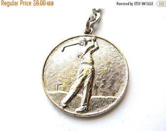 Sale Golf Key chain - Silver Tone Sport Key chain