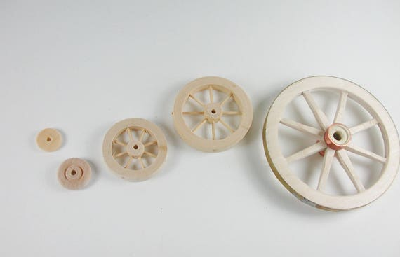 Wood wheels for the tricycle, Scooter, car, car, carriage, dollhouse miniatures, Nativity scenes, miniatures, modelling