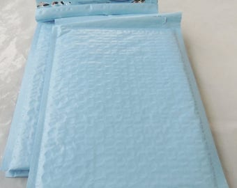 On Sale 10 Pastel Blue 10.5 x 15.5 Bubble Mailers, Size-5 Padded Self Adhesive Padded Mailer Envelopes, Baby Blue Colored self seal Bubble m
