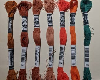 DMC Flower Thread - Set of 7 Colors