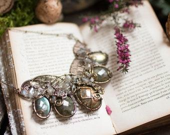 Masterpiece necklace - labradorite and moonstone