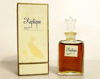 Vintage Perfume 1960s Replique by Raphael 0.50 oz Pure Parfum Splash and Box Original Formula