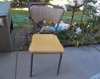 Kitchen Chair Vintage, Vintage Kitchen Chair, Med Century Kitchen Chair, Vintage Chair, Metal Framed Kitchen Chair, # 2