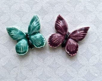 RESERVED HA 2 Adorable Butterflies - Ceramic Tiles - Mosaic Supply
