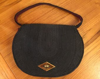 Vintage corde evening bag from the 1940s
